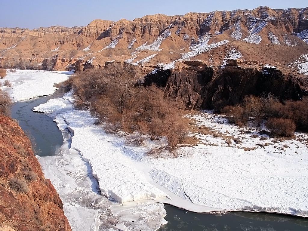 Зима в Чарынском каньоне